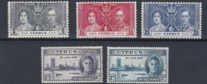 CYPRUS       1937 - 46   CORONATION & VICTORY  SETS  MH