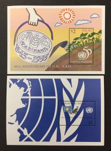 Palau 1995 #375-6 S/S, FAO, MNH.