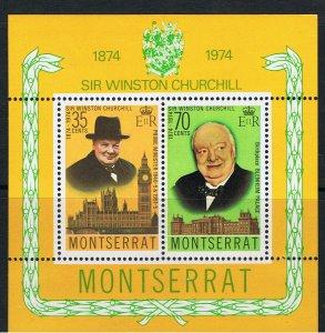 MONTSERRAT 1974 SIR WINSTON CHURCHILL CENTENARY