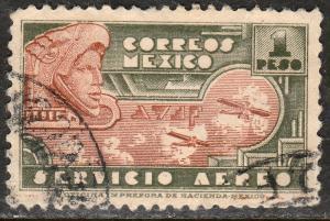 MEXICO C139, $1P 1934 Definitive. Eagleman. USED. F-VF.(1118)