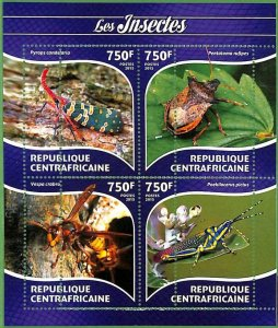 A3620-CENTRAL AFRICAN REPUBLIC ERROR MISSPERF 2015  BUGS INSECTS