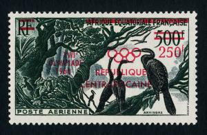Central Africa C4 MNH Birds, Olympic Games o/p