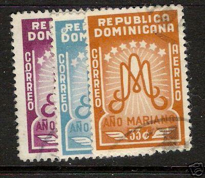 DOMINICAN REPUBLIC MARIAN YEAR C87-89 VFU A523