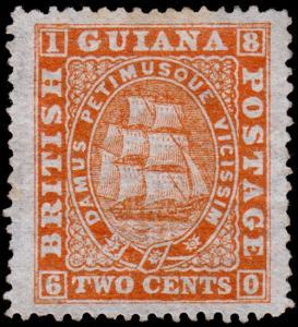 British Guiana Scott 59 (1875) Mint NG F-VF, CV $195.00 M