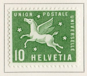 Switzerland Helvetia 1957 Early Issue Fine Mint Hinged 10c. NW-170859