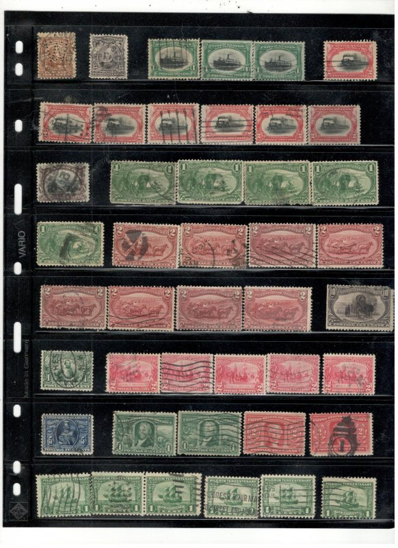 US 1800'S TO EARLY 1900'S COLLECTION ON STOCK SHEET,