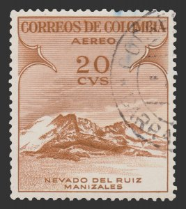COLOMBIA AIRMAIL STAMP 1954. SCOTT # C243. USED