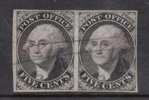USA #9X1 VF Used Pair **With Certificate**