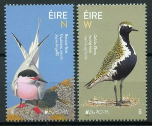 Ireland 2019 MNH National Birds Europa 2v Set Terns Plovers Waders Stamps