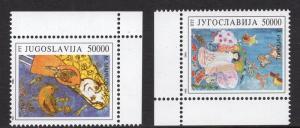 Yugoslavia   #2204-2205   1993  MNH  children`s paintings