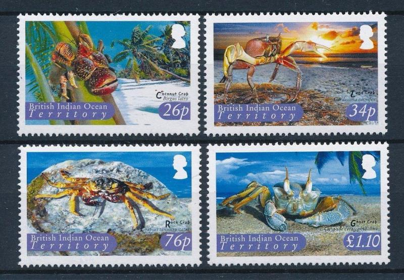 [30352] British Indian Ocean Territory 2004 Marine Life Crabs MNH