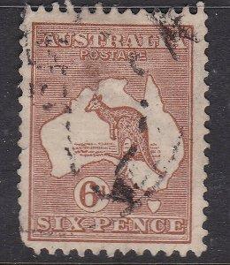 AUSTRALIA  ^^^^1929  sc#9  used  KEY   KANGAROO  $$@ lar2034aust34