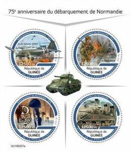 Z08 IMPERF GU190227a GUINEA (Guinee) 2019 Normandy landings MNH ** Postfrisch