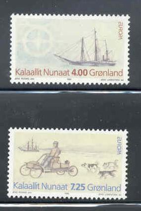 Greenland Sc 268-9 1994 Europa Expedition stamp set mint NH