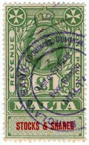 (I.B) Malta Revenue : Stocks & Shares £1