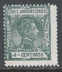 ELOBEY, ANNOBON Y CORISCO 42 MNH 176A-2