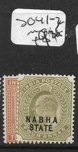 INDIA NABHA (P2509B) KE 3A, 4A SG 41-2    MOG