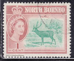 North Borneo 280 USED 1961 Malayan Sambar, Payau