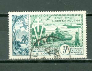 FRENCH POLYNESIA LIBERATION #C22.....USED NO THINS...$8.00