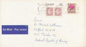 Canada 5c Floral Shooting Star and 30c Capex 1979 Ottawa, Ontario Airmail to ...