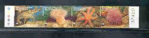 Alderney Sc 69 1993 Marine Life  WWF stamp strip mint NH