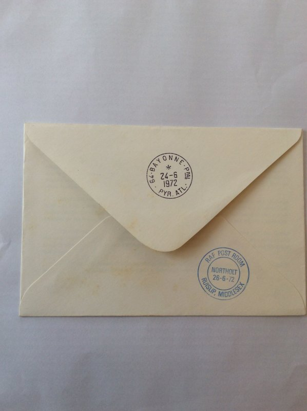 1972 cover Royal Airforce Escaping. Postmarked RAF Northolt on reverse.