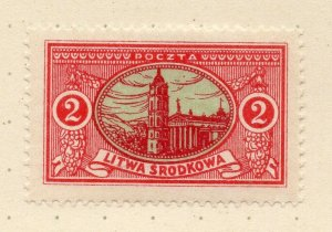 LITHUANIA 1920-22 Early Issue Fine Mint Hinged 2r. NW-07179