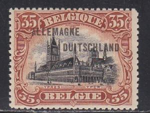 Germany # 1N10  Belgian Occupation - Allemagne, Hinged, 1/3 Cat.