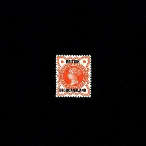 BECHUANALAND - 1897 - QV - PROFILE - GR BRITAIN # 111 OVPT - # 10 - MH SINGLE!