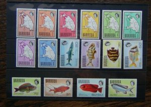Barbuda 1968 - 70 vales to $5 MM or MNH  (ex 15c)