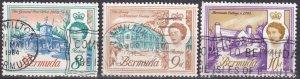 Bermuda #181-2, 182A F-VF Used CV $2.90 (Z2484)