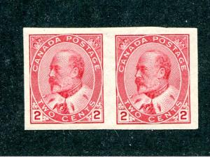 Canada #90a  pair  Mint  VF NH - Lakeshore Philatelics
