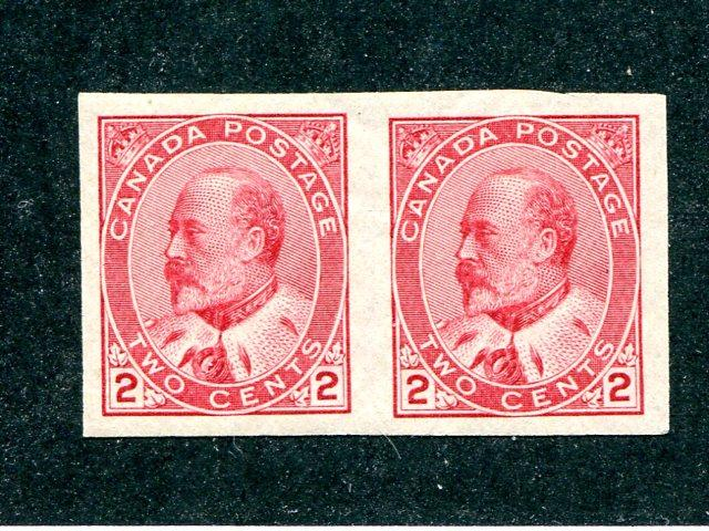 Canada #90a  pair  Mint  VF NH - Lakeshore Philatelics