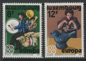LUXEMBOURG SG1066/7 1981 EUROPA MNH