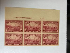 373 Superb Mint Never Hinged Plate Block. Wide Too Margin