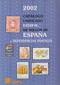 Edifil 2002 Spain & Dependencies, full color, priced in €uros, NEW