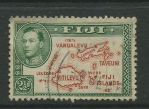 Fiji - Scott 134 - KGVI - Definitive - 1941 - Used - Single 2.1/2p - Stamp