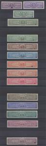 HONDURAS 1927 REVENUES TIMBRE, LICOUR+ 3 IMPERF & 12 PERF PROOFS SETS SPECIMEN