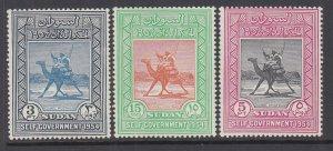Sudan 115-117 Camels MNH VF