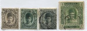 Zanzibar 1908 25 cents to 1 rupee used