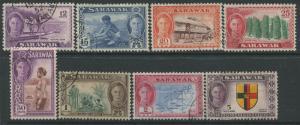 Sarawak KGVI 1950 10 cents to $5 used