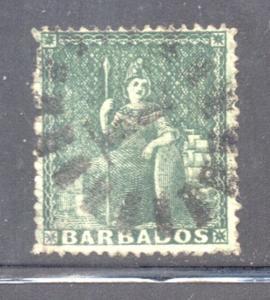 Barbados Sc 13 1861 ½ d Britannia stamp used