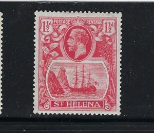 ST HELENA SCOTT #81 1922-27 GEORGE V- WMK 4-1 1/2 P Y (ROSE RED)) MINT LH