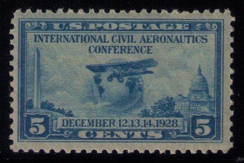 US Sc #650 MNH 5c Blue VF-XF