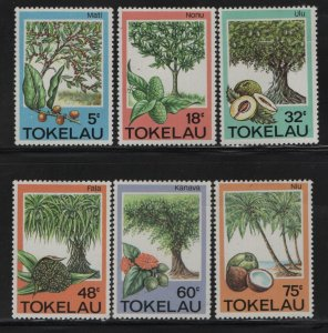 Tokelau  114-119 (6) SET, HINGED, 1985 Trees fruits and herbs