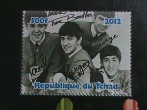 CHAD STAMP:2012 THE BEATALES MNH STAMP SHEET.#2