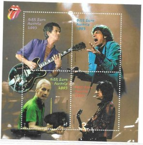 2003   AUSTRIA   -  SG.  MS 2679   -  THE ROLLING STONES   -  MNH