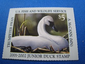 UNITED STATES 2001 DUCK STAMP - SCOTT #JDS9   MNH