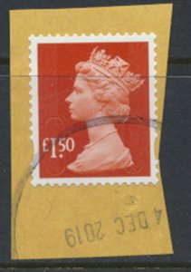 GB £1.50  Security Machin SGU2913 no source or year code see detail SC# MH280