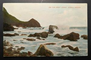 1929 On The West Coast Achill Island Ireland Real Picture Postcard Cover
